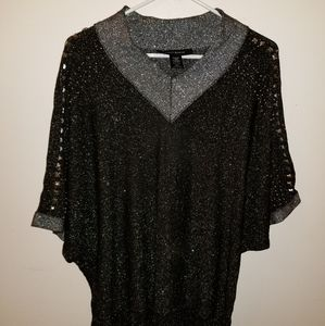 Black and silver blouse